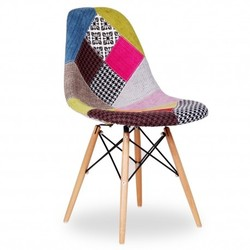 Silla Eames Tower Wooden Patchwork Inspiración DSW Patchwork de Charles & Ray Eames