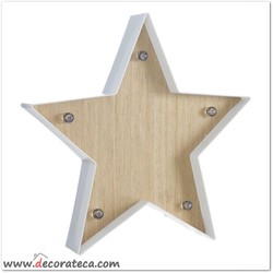Estrella luminosa led de pared